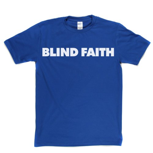 Blind Faith English Rock Band Clapton UK London T-shirt Königsblau