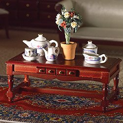 The Dolls House Emporium Oblong Coffee Table with Drawer (M) - cheap UK light store.