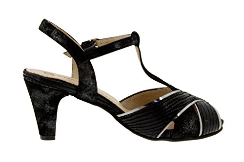 Chaussure femme confort en cuir Piesanto 6258 sandale escarpin chaussure confortables amples Noir
