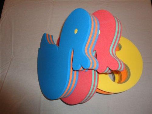 Schwimmbrett Ente 320x260x38mm Auftriebshilfe Schwimmspaß Schwimmhilfe Stripes Gestreift (ROT)