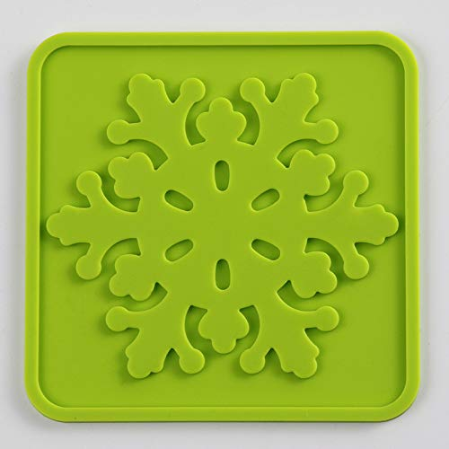 yxdz Quadrat Silikonuntersetzer rutschfeste Hochtemperatur-Untersetzer Isolationskissen Geschirr Matte Multicolor 10 Stück Set Grün