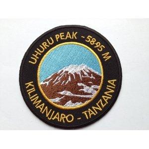 Kilimanjaro Uhuru Peak Tansania Eisen/Nähen auf Patch (8,9cm/9cm) bestickt Travel Badge–Kostenloser - Patch Tansania