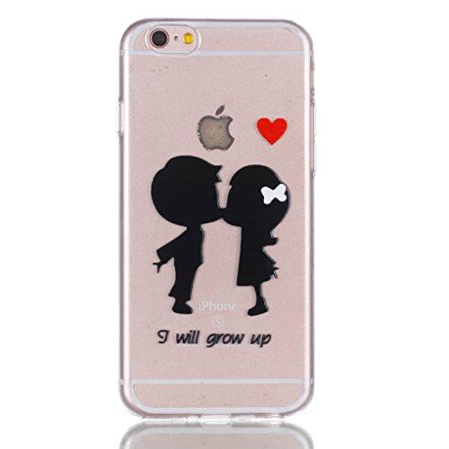 iPhone 6 6S Hülle, SATURCASE Schönes Muster Bas-relief Ultra Dünn Weich TPU Gel Silikon Schützend Zurück Case Cover Handy Tasche Schutzhülle Handyhülle Hülle für for Apple iPhone 6 6S (4.7 inch) (Must Muster-2