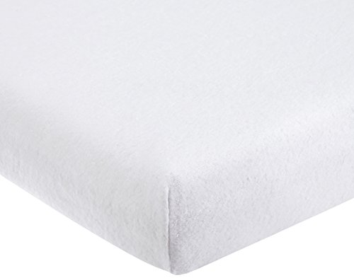 Jollein 512_0005 sábana ajustable Molton, 50 x 90 cm, color blanco