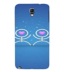 PrintVisa Funny Love Couple Design 3D Hard Polycarbonate Designer Back Case Cover for Samsung Galaxy Note 3 Neo