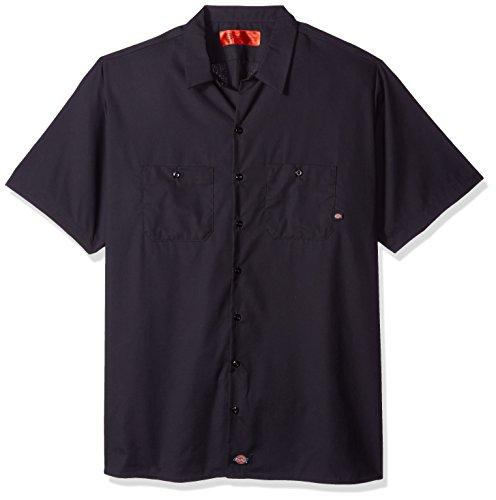 Dickies occupational workwear ls535ch da uomo a maniche corte camicia da lavoro industriale, l, dark charcoal, 1