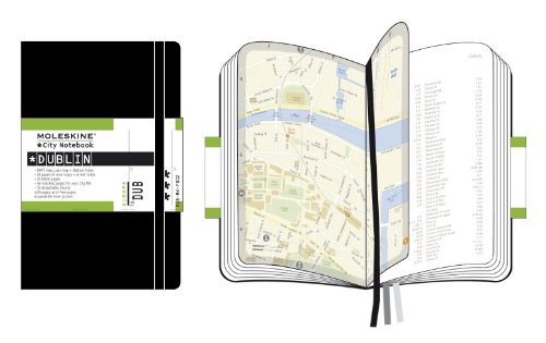 Moleskine City Notebook DUBLIN Couverture rigide noire 9 x 14 cm