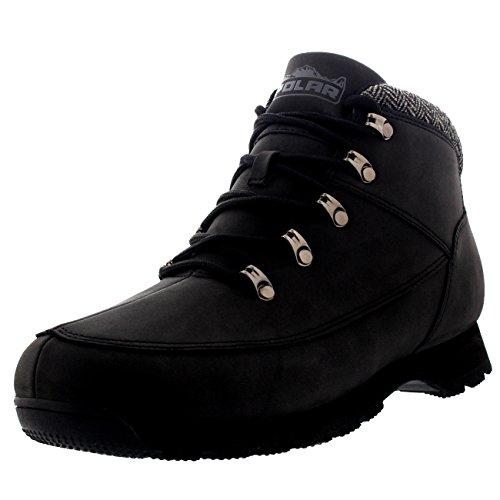 polar-mens-rambling-hiking-trail-walking-waterproof-hiker-outdoor-tweed-collar-ankle-boots-black-uk8