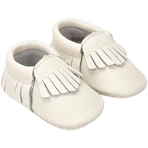 Genuine Elfenbeinfarben Lauflernschuhe Fire Mädchen Shoes Baby Leather Frog EAAOqZ