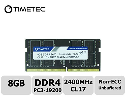 Timetec Hynix IC 8GB DDR4 2400MHz PC4-19200 Unbuffered Non-ECC 1.2V CL17 2Rx8 Dual Rank 260 Pin SODIMM Laptop Memory Ram Module Upgrade (8GB)