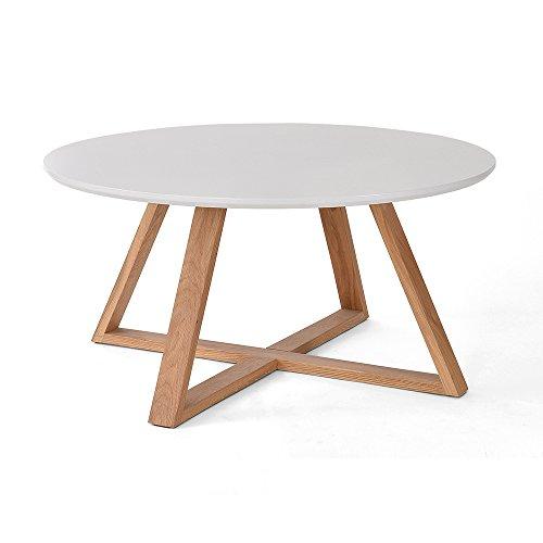 Massivholz Couchtisch, Rund, Creative Tee Tisch, Kleine Wohnung  Wohnzimmertisch, Nordic Minimalist Modern