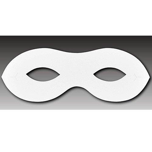 Maske Papier Fasching Halloween, Papiermaske 15,8cm, 10 Stück