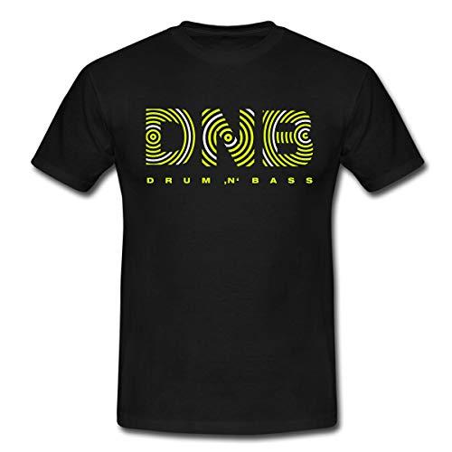 Spreadshirt Drum and Bass Männer T-Shirt, L, Schwarz