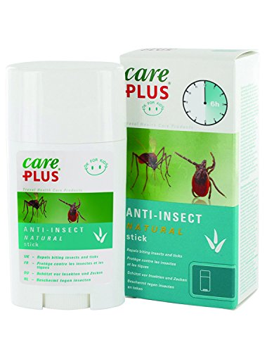 Insektenschutz-stick (Care Plus Erwachsene Anti-Insect Natural Stick, Transparent, 50 ml)
