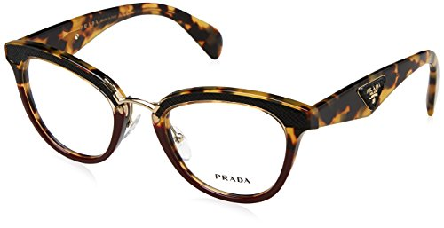 Prada - PRADA ORNATE PR 26SV, Schmetterling, Acetat, Damenbrillen, BLONDE HAVANA BURGUNDY(VHC-1O1),...