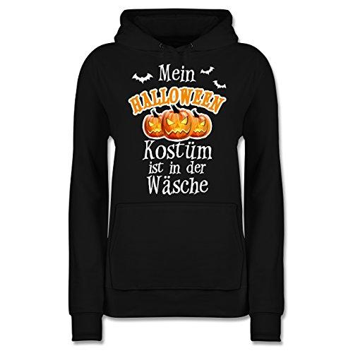 Shirtracer Halloween - Mein Halloween Kostüm ist in der Wäsche - M - Schwarz - JH001F - Damen Hoodie