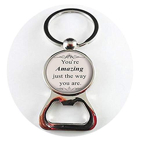 bab Bruno Mars Halskette mit Spruch Songtext Silber Schmuck Geschenk für Sie - You're Amazing just The Way You Are Bottle openers - Buch-Flaschenöffner - religiöser Anhänger