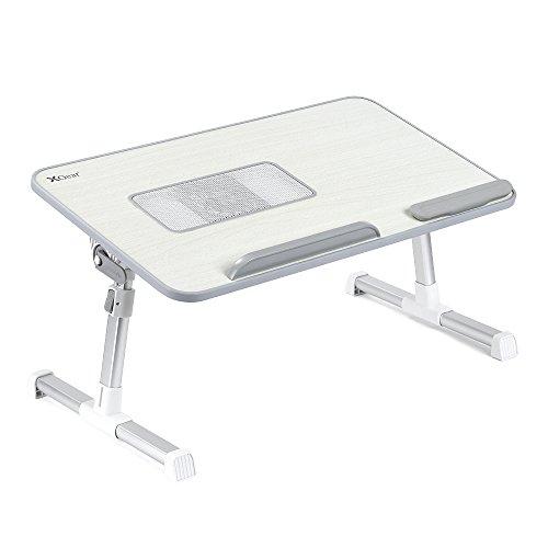 Supporto Tavolo Tavolino laptop portable table Pieghevole per Notebook PC Portatile con USB Ventole - Alluminio - altezza e angolazione regolabile - Grigio