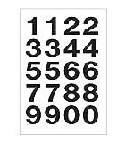 Herlitz 11296522 Etiketten Zahlen groß, 2 Bogen 20 Stück, selbstklebend, schwarz/weiß