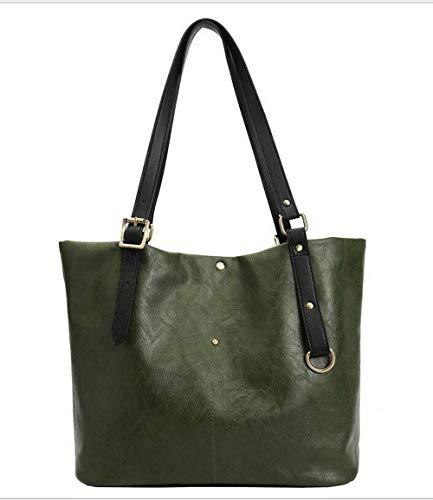 Cimic Ladies Designer Schultertasche Aus Weichem Leder Leichte, Große Hobo Bag,Green