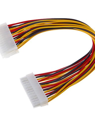 Preisvergleich Produktbild 24-poliger Stecker auf Buchse ATX-Verlängerungskabel (0,3 m)