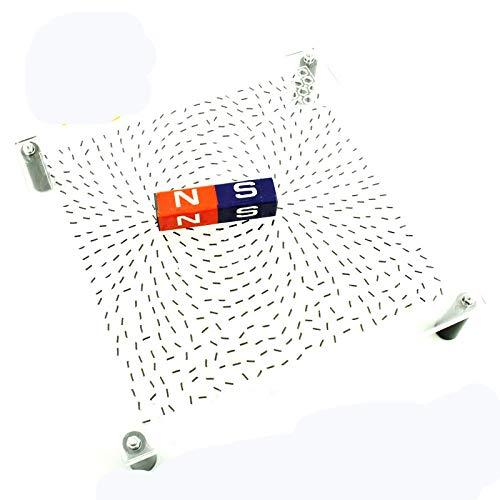 juler Lernspielzeug STEM Spielzeug Wissenschaft Kits Magnetic Line Demo Board Projektion Physikalische und elektrische Experimentelle Instrumente Magnetfeld Lehre Instrumente,Transparent,Einheitsgröße