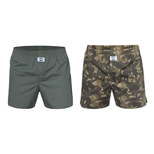 D.E.A.L International 2-er Set Boxershorts Camo-Surfer & Grün Größe XL