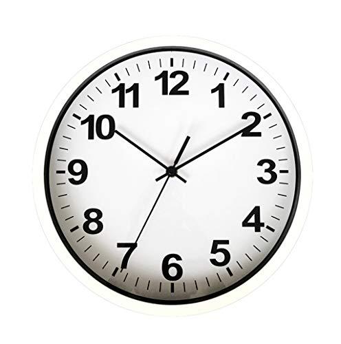 GXJ-wall clock Chang-dq Reloj de Pared de la Tienda de los Efectos de Escritorio, Reloj de Pared plástico del Estudio de la habitación del Reloj de Pared de los 30 * 30CM decoración de Pared