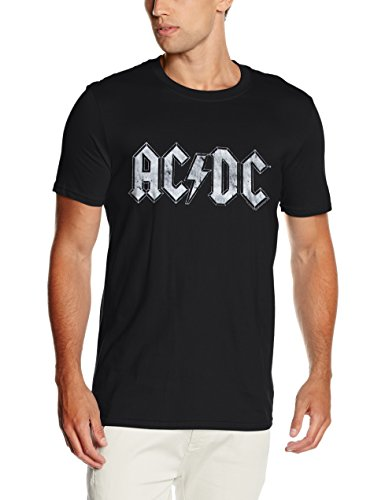 Cid AC/DC - WHITE LOGO DISTRESSED-T-shirt  Uomo, Black, Medium