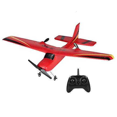 Goolsky Zhi Cheng Juguetes RC Avión Z50 2.4G 2CH Control Remoto Glider 350mm Envergadura EPP Micro Indoor Avión con Giro RTF (Rojo)