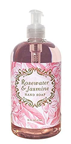 Greenwich Bay Rosewater & Jasmine Shea Butter Liquid Hand Soap Enriched with Cocoa Butter and Jasmine Oil 16 oz by Greenwich Bay Trading Company
