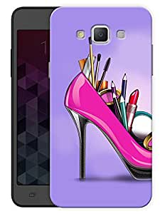 "Humor Gang High Heel Life Printed Designer Mobile Back Cover For ""Samsung Galaxy E7"" (3D, Matte Finish, Premium Quality, Protective Snap On Slim Hard Phone Case, Multi Color)"