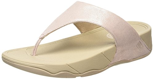 Fitflop Lulu Tm Shimmersuede Infradito Donna, Rosa (Nude), 40