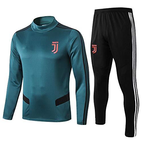 IEKYSYR 1920 Stand Colletto Juventus Club Verde Scuro,Tuta Allenamento Calcio,Tuta Competizione,Divisa Squadra,Foto a Colori_M
