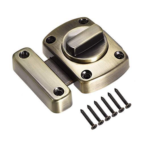 ZCHXD Rotate Bolt Latch, 1.5-inch Zinc Alloy Security Door Slide Lock (Bronze) -