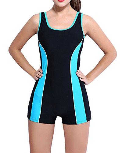 Costume da Bagno Intero Sportivo da Donna Ideale Per Endurance Blue Black