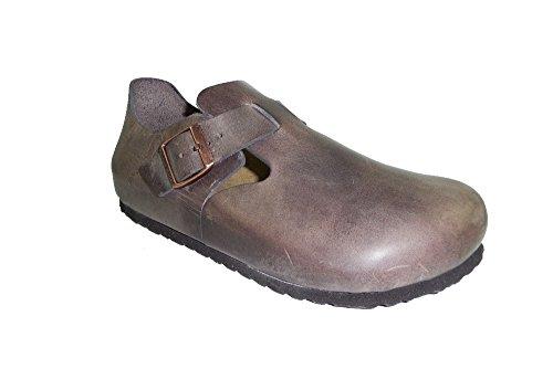 BIRKENSTOCK LONDON scarpe chiuse sandali pelle effetto vintage Purple Haze