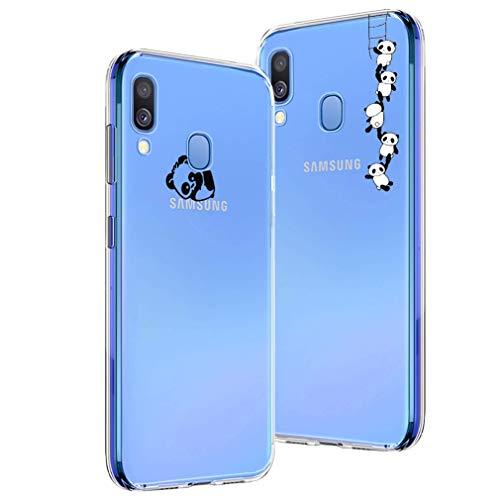 338b60d16c1 Easybee [2 Pack] Funda Para Samsung Galaxy A40, Ultra-Delgado Transparente  Flexible