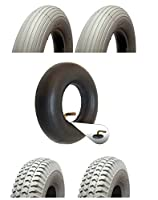 Mobility Scooter Tyre and Tube Set - Pack of 2 front tyres and 2 inner tubes- 300-4/260x85