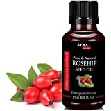 Seyal Rosehip Seed Oil Pure & Natural Therapeutic Grade Organic Cold Pressed Unrefined (15ml)