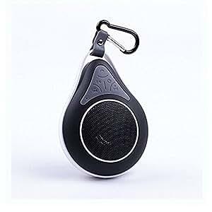Generic KLTMall Mini-Enceinte sans fil Bluetooth étanche avec mousqueton, pour une utilisation mains libres et microphone pour Smartphone (Noir)