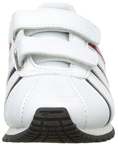 Levi's Almayer Velcro, Baskets Basses Garçon Blanc (White)