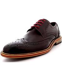 Queensbury Mason Hombre Oxfords Abarcas La Punta Del Ala Clásico Cuero Verdadero Completo Zapatos