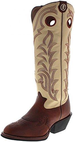 FB Fashion Boots Tony Lama RR1013 Sienna Maverick/Braun Weiß Herren Westernreitstiefel/Buckaroo Stiefel/Damenstiefel, Groesse:42.5 (9.5 US) (Leder Stiefel Buckaroo)