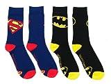 Dc Comics Tilted Logo Crew Socks 2 Pack