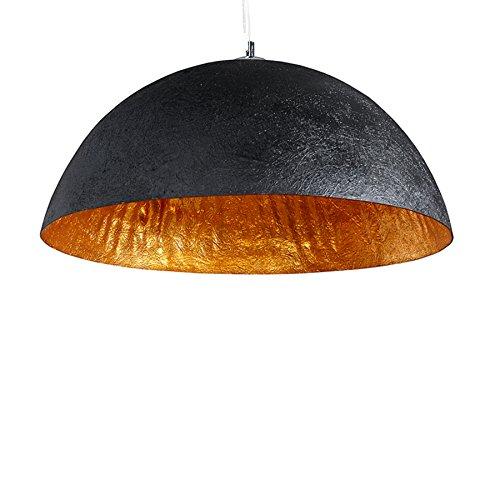 Stylische Hängeleuchte GLOW schwarz gold 50cm