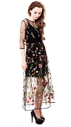 BaronHong-Womens-Floral-Embroidered-Tulle-Prom-Maxi-Dress-With-Cami-Dress-34-Sleeves