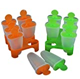 FEUERS® Bereiter Eis am Stiel, für Kinder, 6 Stück Orange (1 Box) - Eisbereiter für Eis am Stiel