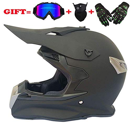 lm Roller-Helm Full Face Dual Sport Helmet Off Road Motocross UTV ATV Motorcycle Enduro Multicolor (2,L) ()