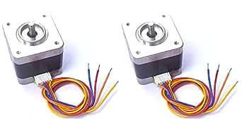 Scriptronics® Nema-17 4 Kg-cm 2-phase 4-wire Bipolar Stepper Motor 1. 8 Deg With 10MM Shaft For CNC Robotics DIY Projects 3D Printer (2 Piece)